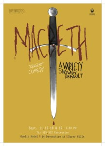 Macbeth-A Variety Show by Default - Poster small